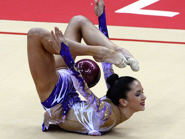 Двукратная олимпийская чемпионка по художественной гимнастике Евгения Канаева