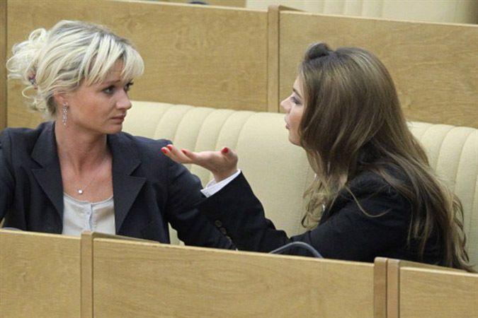 Кабаева и Хоркина в Госдуме